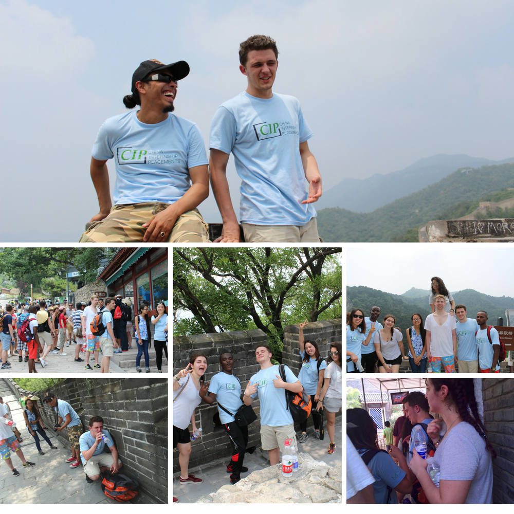 Summer Interns at Beijing Great Wall of China