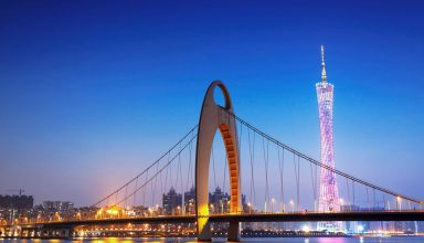 Internship in Guangzhou- Bridge and city picture
