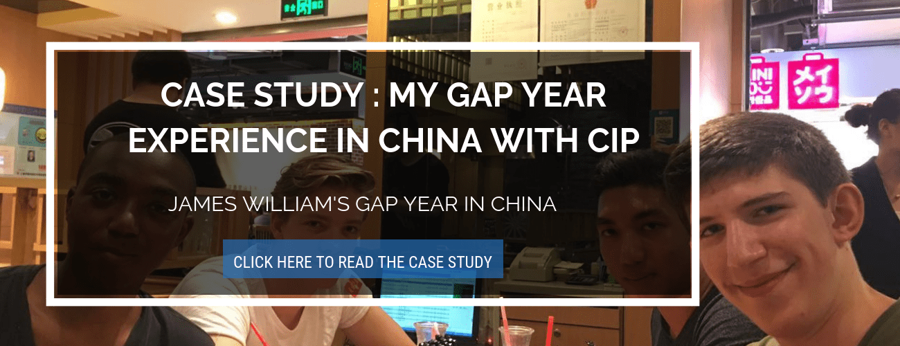 Gap Year Case study for high school student CTA