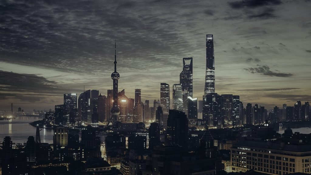 Shanghai Tower in nighttime