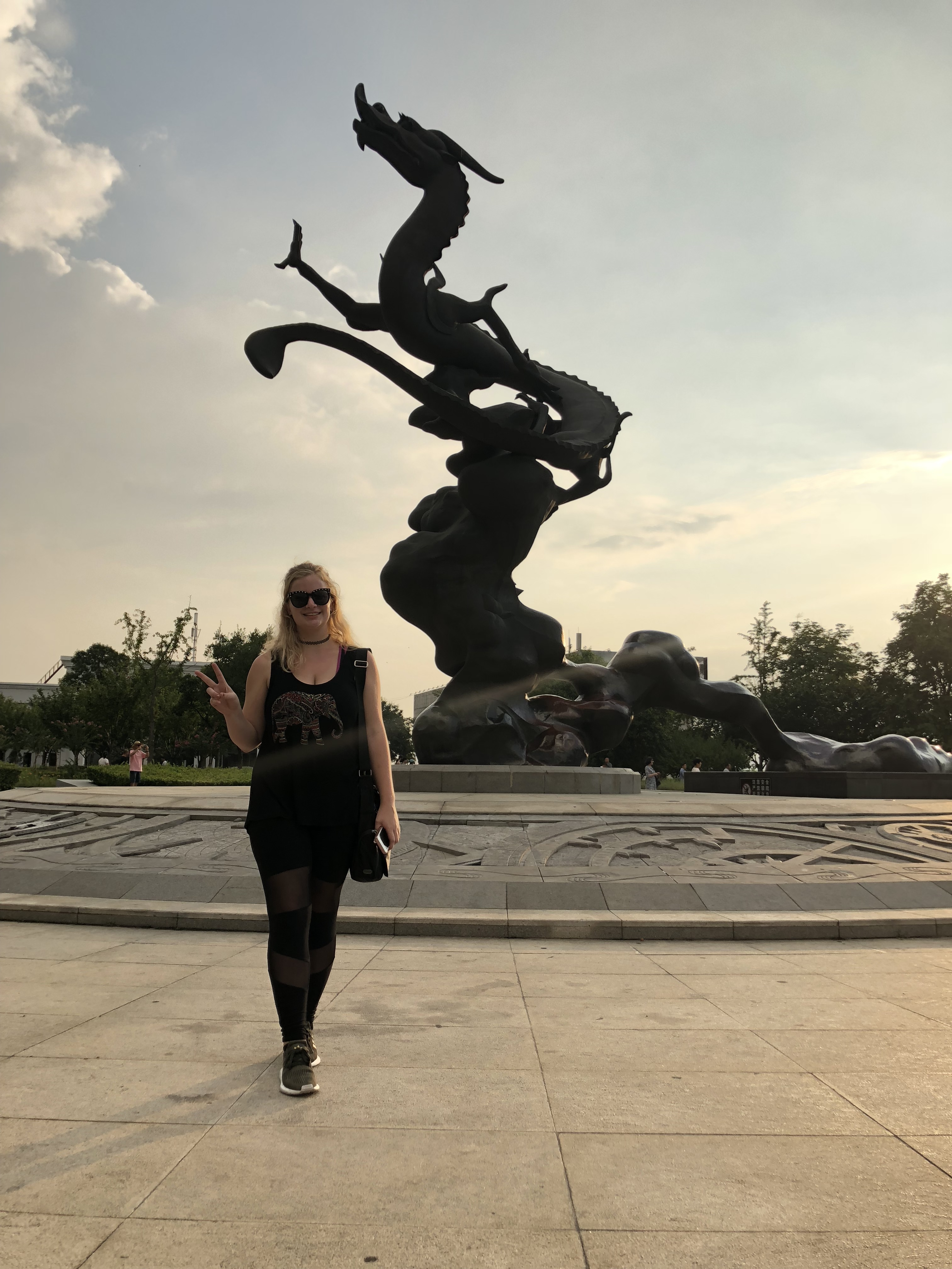 A picture of Kassandra on a trip to Nanjing during her internship in Shanghai