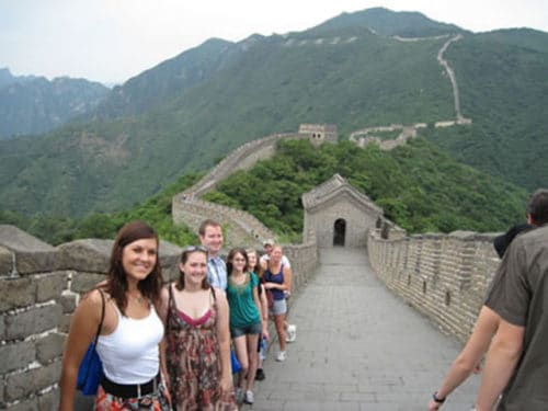 Summer Intensive Chinese Students at great wall