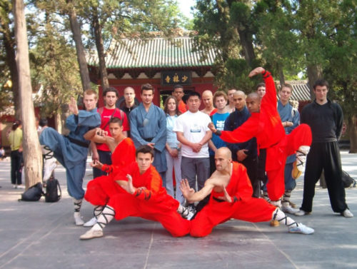 Kunfu Practice for Summer language participanrts