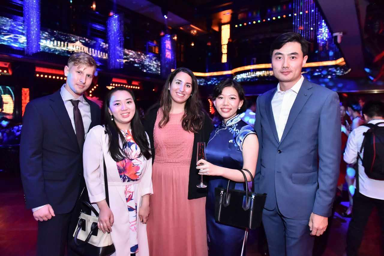 China Interns at a Networking Event