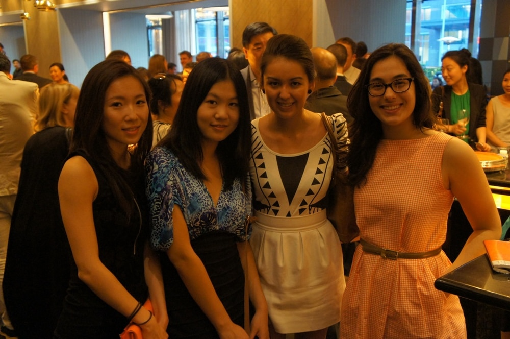 Group of CIP Internship Participants at networking events